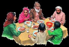 Ilustrasi Muslim Berpuka Puasa