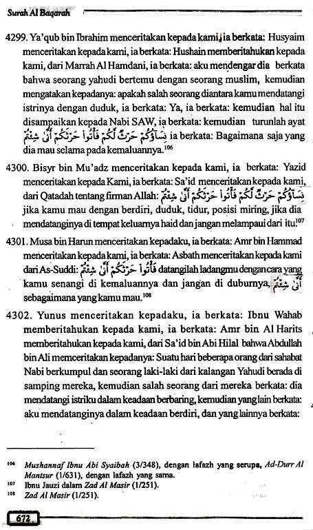 Tafsir Ath-Thabari QS2.223 Halaman 672