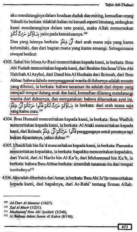 Tafsir Ath-Thabari QS2.223 Halaman 673
