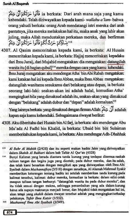 Tafsir Ath-Thabari QS2.223 Halaman 674