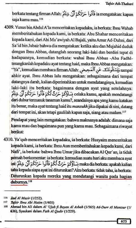 Tafsir Ath-Thabari QS2.223 Halaman 675
