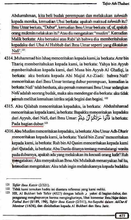 Tafsir Ath-Thabari QS2.223 Halaman 677