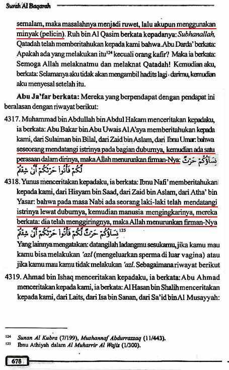 Tafsir Ath-Thabari QS2.223 Halaman 678