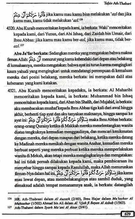 Tafsir Ath-Thabari QS2.223 Halaman 679