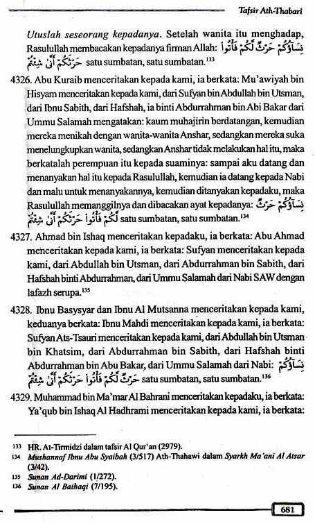 Tafsir Ath-Thabari QS2.223 Halaman 681