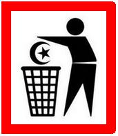 Rambu Buang islam ke tempat Sampah